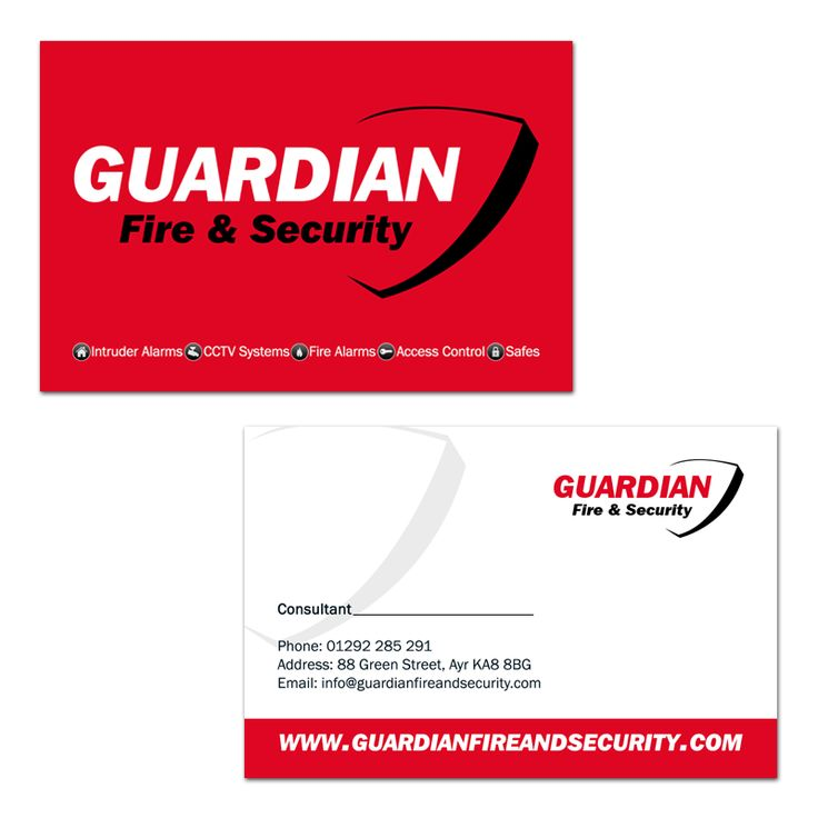 19 best business card ideas images on pinterest card patterns business card design for guardian fire security reheart Gallery