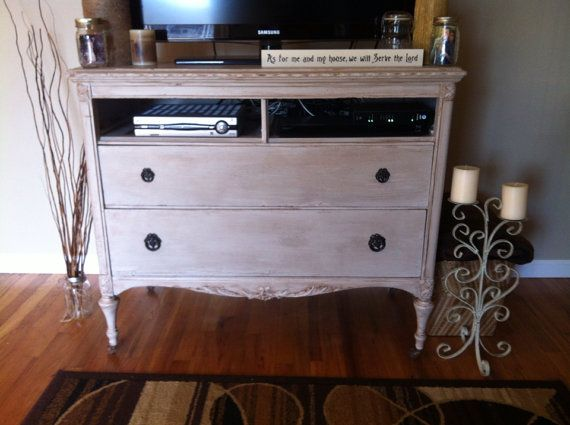 Refinished antique tv stand by UniquelyYouFurniture on Etsy