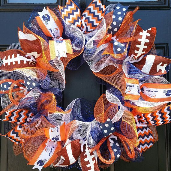Denver Broncos Wreath Broncos Wreath Denver by WreathsByRobyn