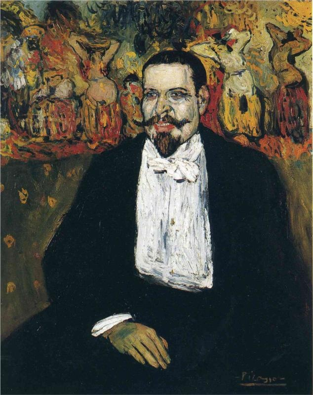 Portrait of Gustave Coquiot by Picasso (1901)