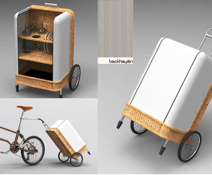 This super-chic carrier offers a stylish update on the traditional trolley, being made from an attractive combination of natural rattan and cool aluminium that's both pretty and practical. Great for keeping your picnic fresh and cool, it features large rubber wheels and an easy-grip handle designed to make using it feel like a walk in the park.