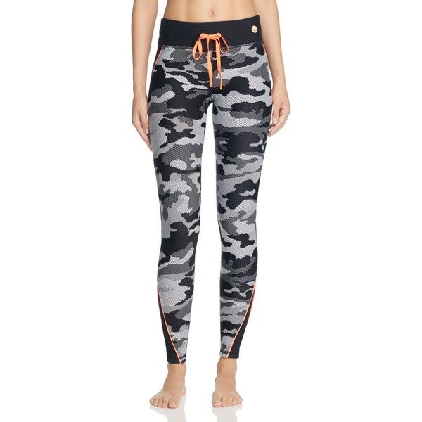 Trina Turk Recreation Congo Camo Leggings ($105) ❤ liked on Polyvore featuring pants, leggings, black, camoflauge leggings, camoflauge pants, camouflage leggings, camo print leggings and camo trousers