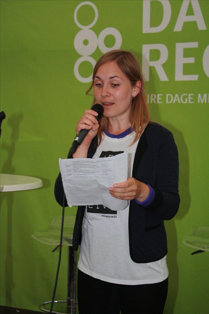 Marianne fra Ung kræft-kontoret i Unge Patienter-workshop
