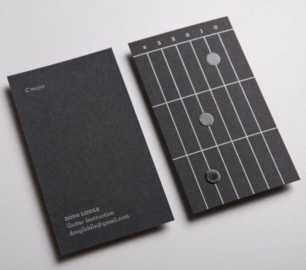Doug Liddle Guitar Instructions: Creative Business Card Designs