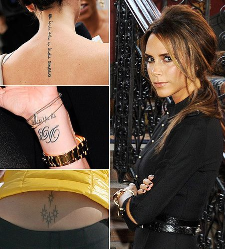 victoria beckham tattoos tattoos piercings pinterest classy hands and hand written. Black Bedroom Furniture Sets. Home Design Ideas