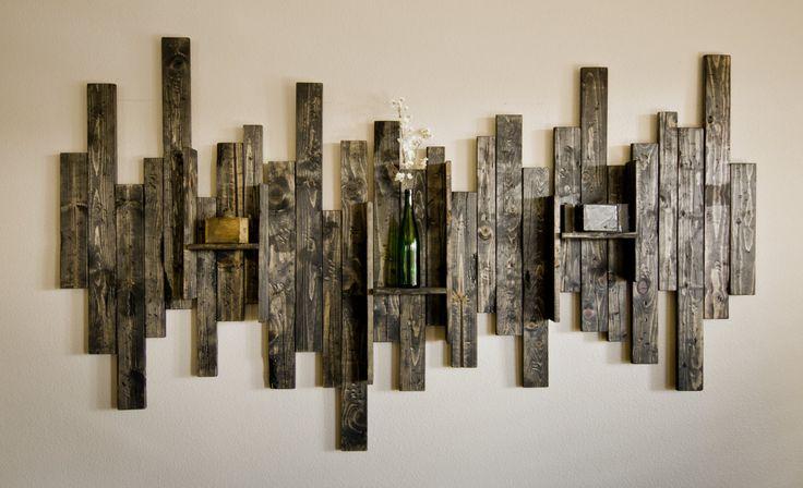 Rustic Display Shelf Decorative Wall Hanging.