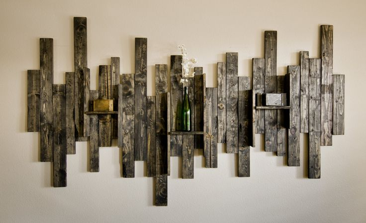Rustic display shelf decorative wall hanging make pinterest display shelves decorative - Rustic wall plaques ...