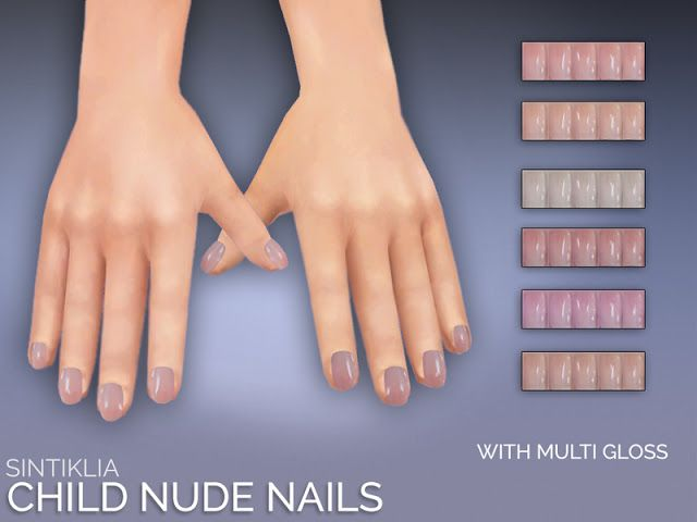 Sims 4 CC's – The Best: Sintiklia – Natural child nails