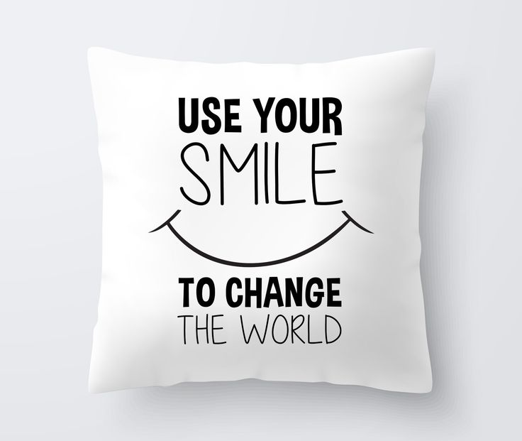 This modern and decorative pillow for kids with Use Your Smile to Change The World inspirational quote will make a perfect birthday gift for boys and girls. Pillow Specifications: Measured 18x18 inche