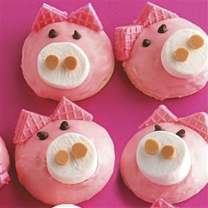Cute Pig Cookies Recipe -Every year when National Pig Day rolls around, I make this taste treats to celebrate.—Becky Baldwin, Annville, Pennsylvania