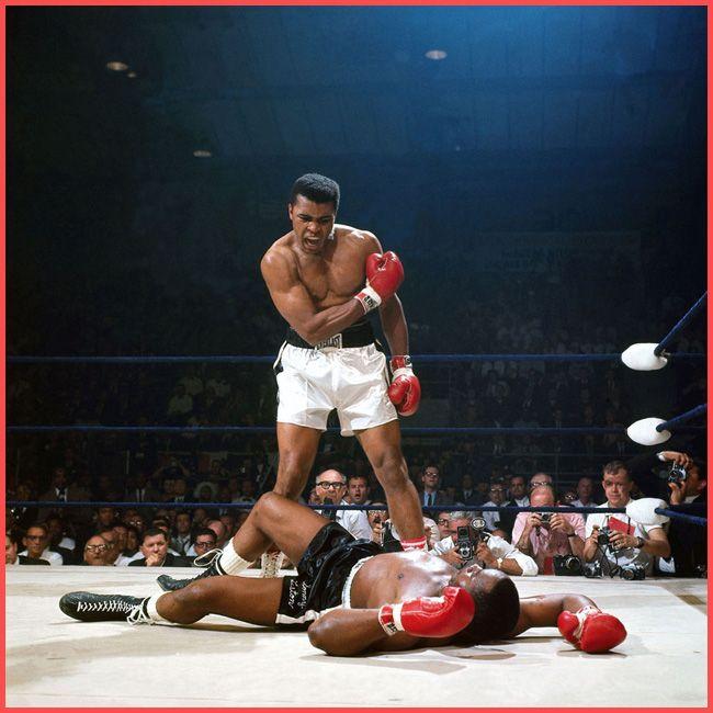 Tweedot blog magazine - Muhammad Ali vs Sonny Liston 1965 foto sportive della storia