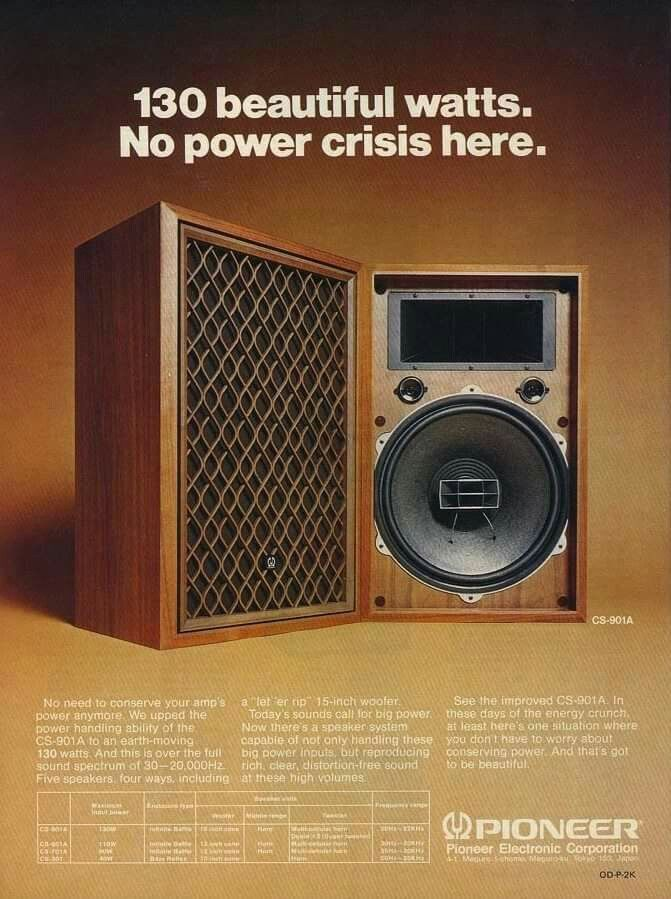 Vintage audio Pioneer speakers Ad