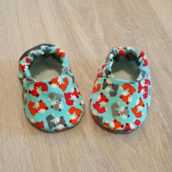 Baby Booties Baby Gifts Fox Baby Slippers Baby Crib Shoes Fox Baby Shoes etsy