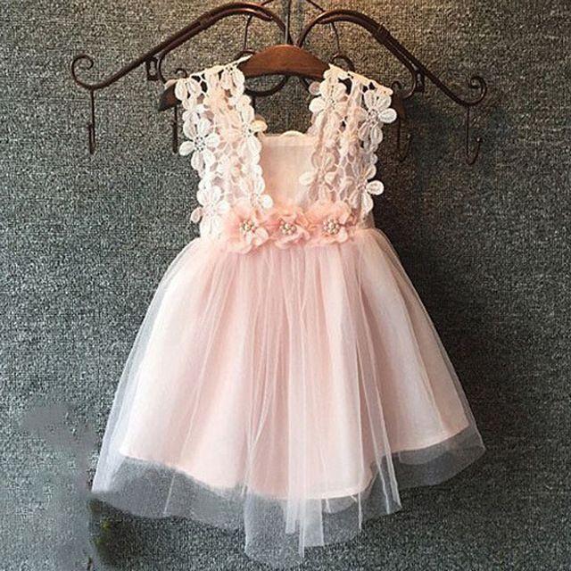 2016 Importado vestido de festa infantil vestido de criança vestido da menina de…