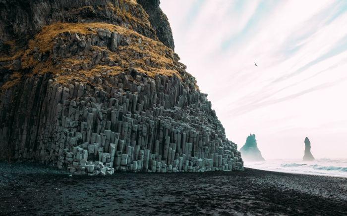 sable noire- Reynifsjara -voyager en Islande
