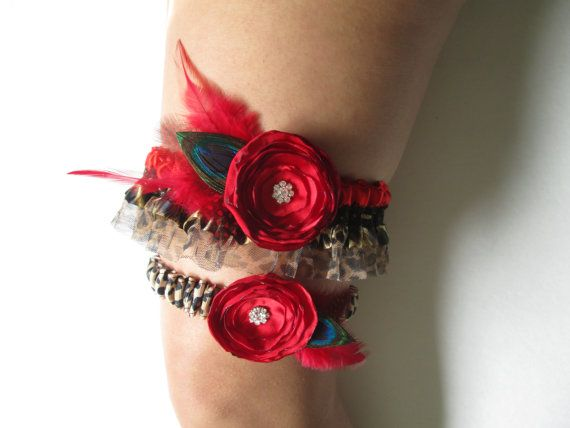 Red Gifts Black Weddings Winter Prom Garters Cheetah Print Leopard Prints Themed Outdoor Blush Bridal