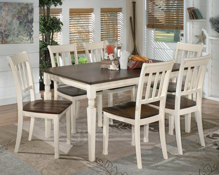 Whitesburg 7 Piece Rectangular Dining Table Set By Signature Design Ashley