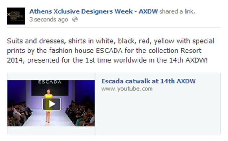 Suits and dresses, shirts in white, black, red, yellow with special prints by the fashion house ESCADA for the collection Resort 2014, presented for the 1st time worldwide in the 14th AXDW! Available now on youtube!