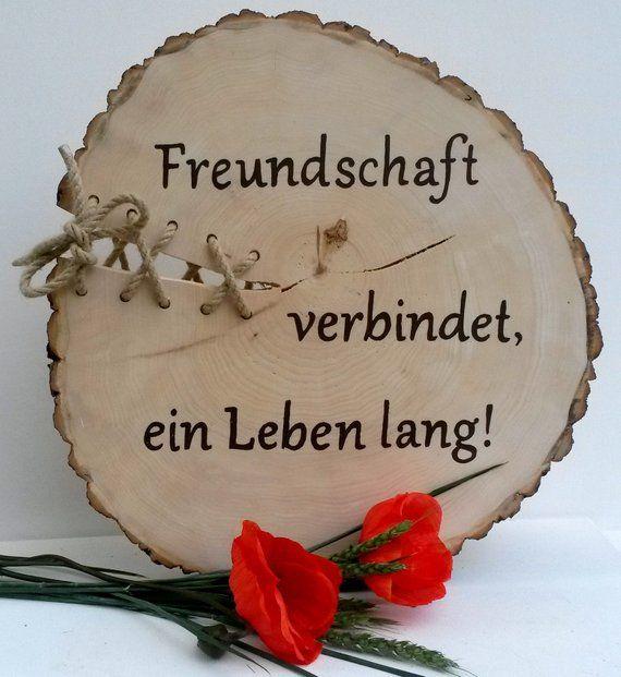 Holzbaumscheibe Freunde Bester Freund Guter Freund