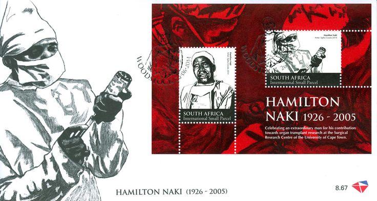 Postcard of Hamilton Naki, assistant to Dr Christiaan Barnard