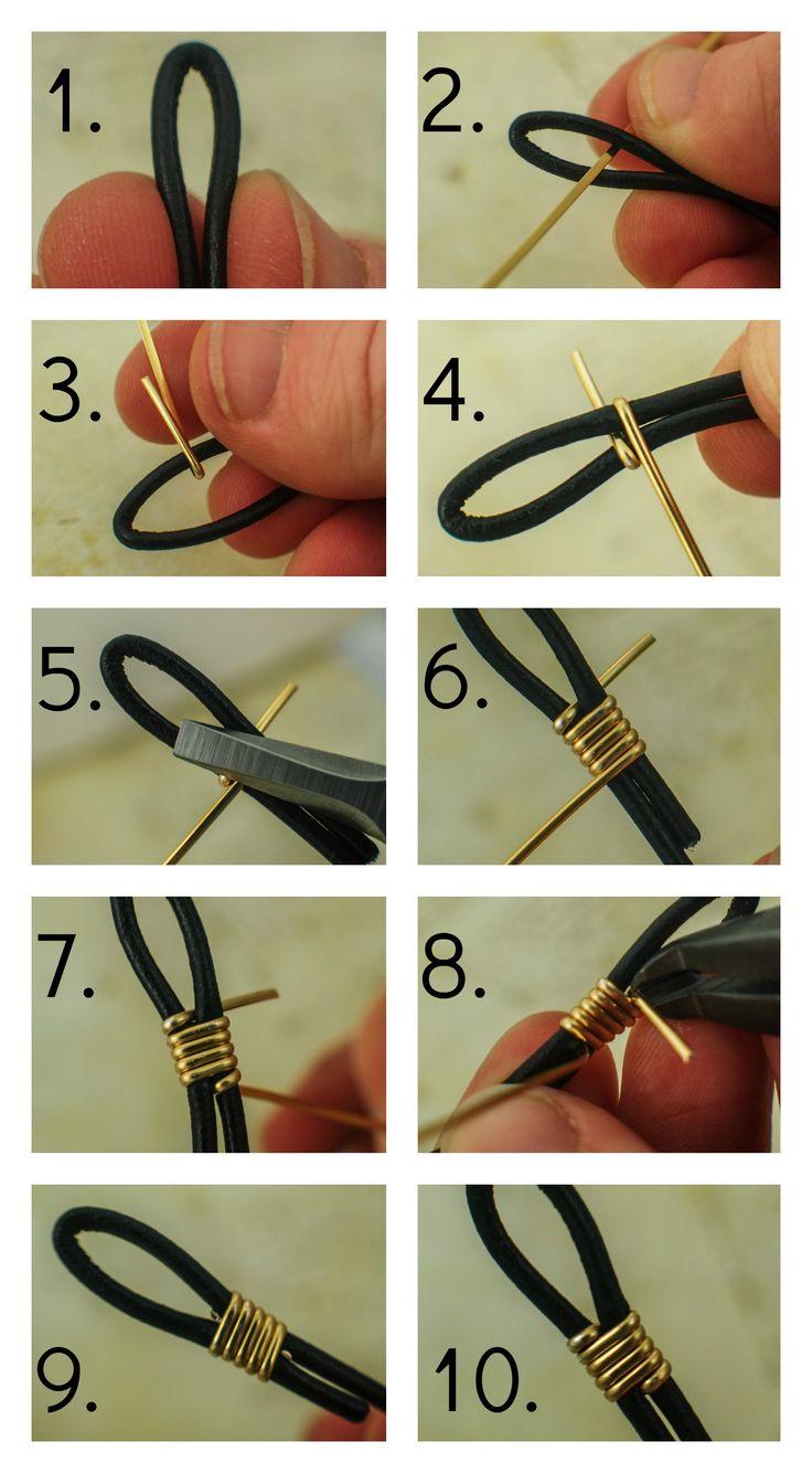 CoMo Finalizar la cuerda de cuero con alambre | Fuentes Unkamen                                                                                                                                                                                 Más                                                                                                                                                                                 Más