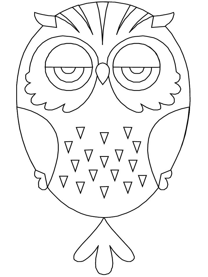 printable birds owl animals coloring pages coloring book for kids of all ages