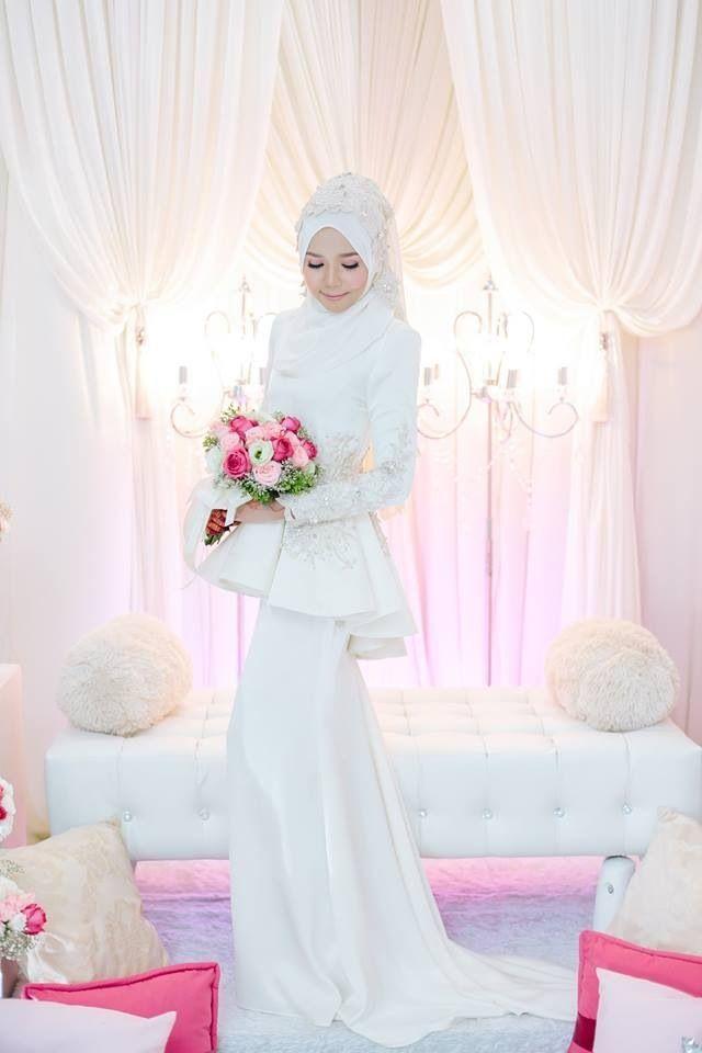 Gaun pengantin muslimah cantik dan unik