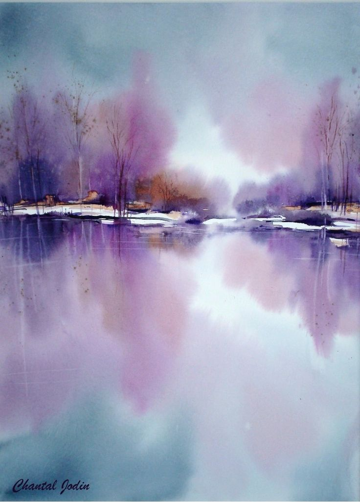 Les 25 meilleures id es concernant paysages abstraits sur for Watercolor art images