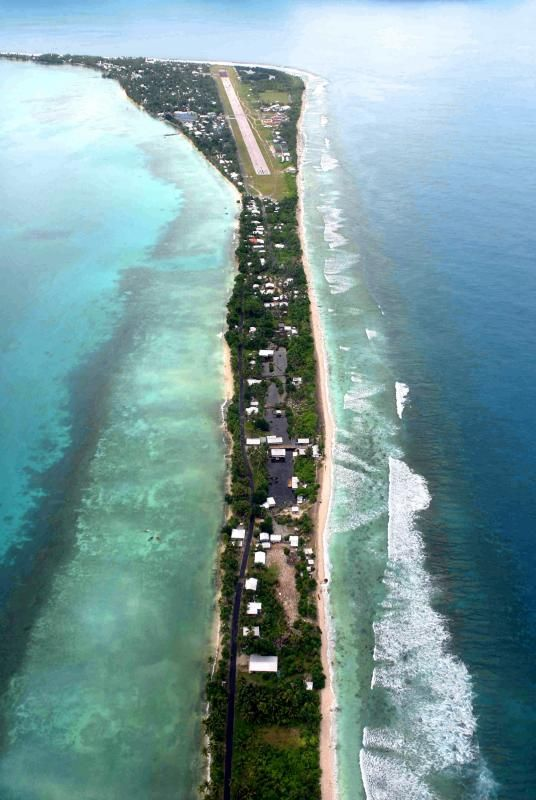 Funafuti International Airport, aerial view. Funafuti 40