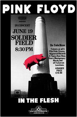 pink floyd concert posters | Pink Floyd Concert Poster Chicago Soldier Field Concert Posters