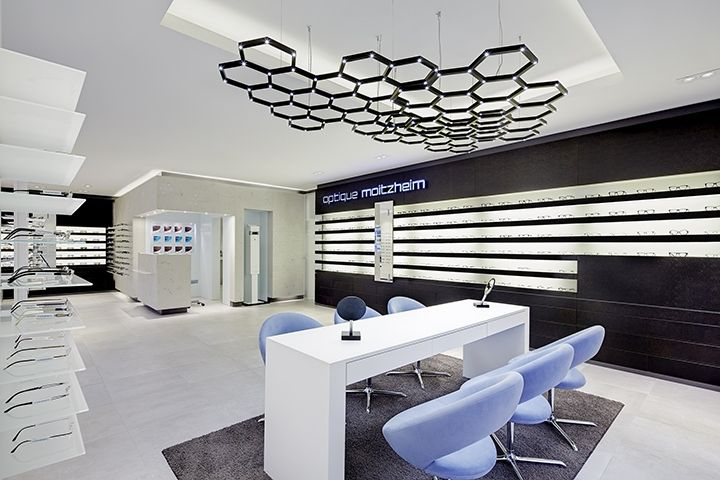 Optique Moitzheim store by Heikaus, Belair – Luxembourg » Retail Design. Visit City Lighting Products! https://www.linkedin.com/company/city-lighting-products
