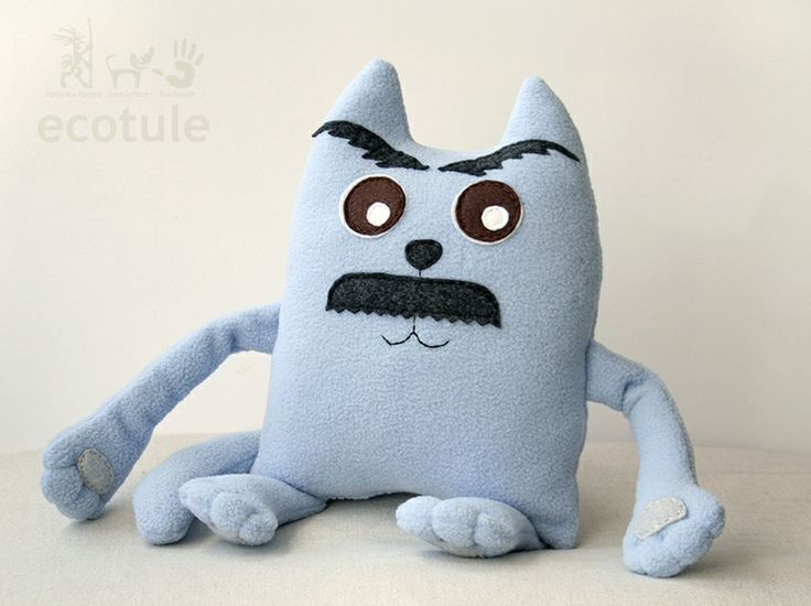 Soft toy Cat for fans of Boris Pasternak.  It is inspired by famous Omar Sharif creation of Doctor Zhivago.  It's blue russian cat.  It was made from fleece, filled with hypoallergenic filling.  Suitable for children and adults.