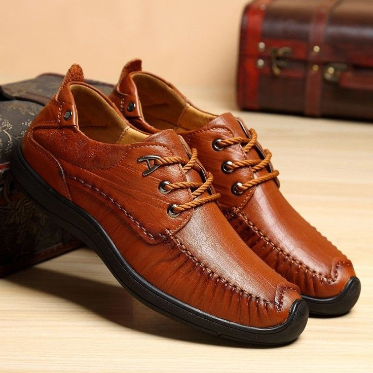 Men Luxury Vintage Carved Cow Leather Lace Up Business Casual Shoes - NewChic Mobile.