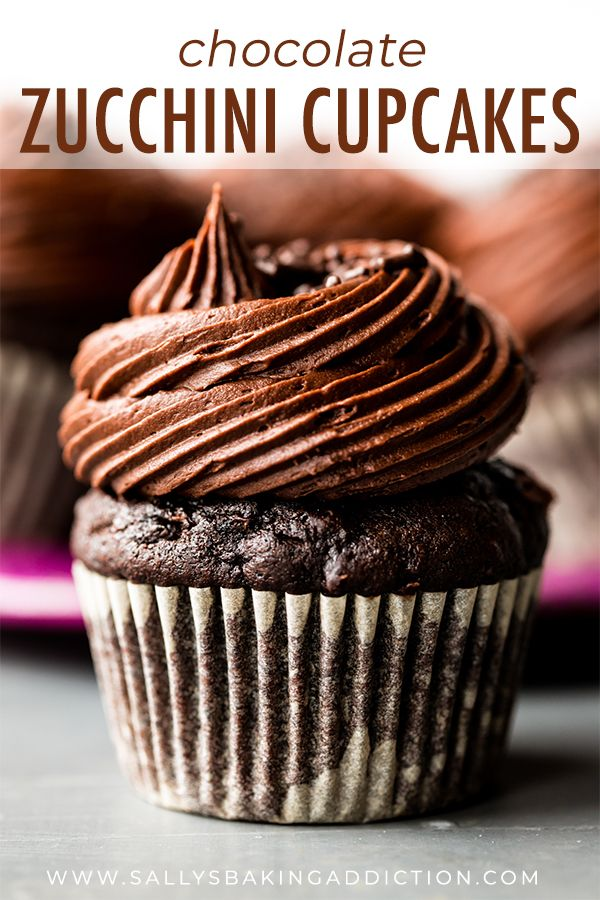 Super Moist And Rich Chocolate Zucchini Cupcakes With Chocolate