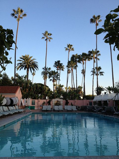 Beverly Hills Hotel, Los Angeles- Ah the pool where music is piped  UNDER the water