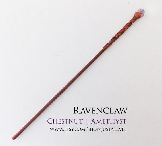 Earth Amethyst Harry Potter Inspired Wand Ravenclaw by JustALevel