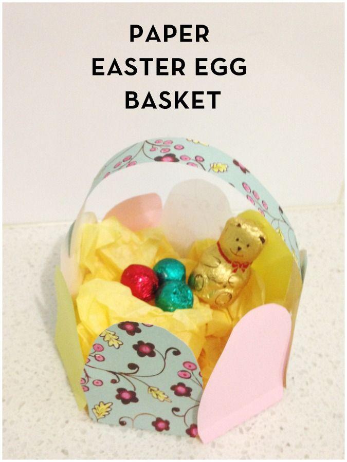 Paper Easter Egg Basket