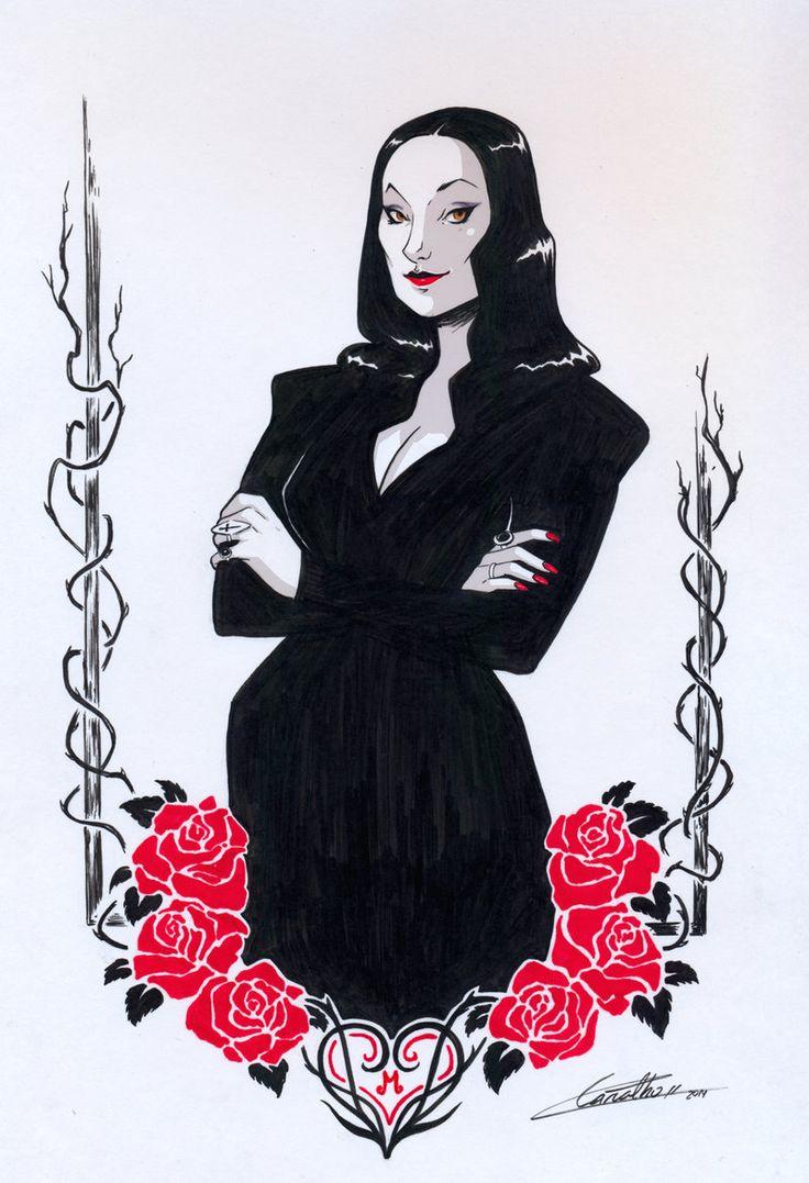 Uncle fester the addams family pinterest - Morticia Addams By Lorena Carvalho Deviantart Com On Deviantart