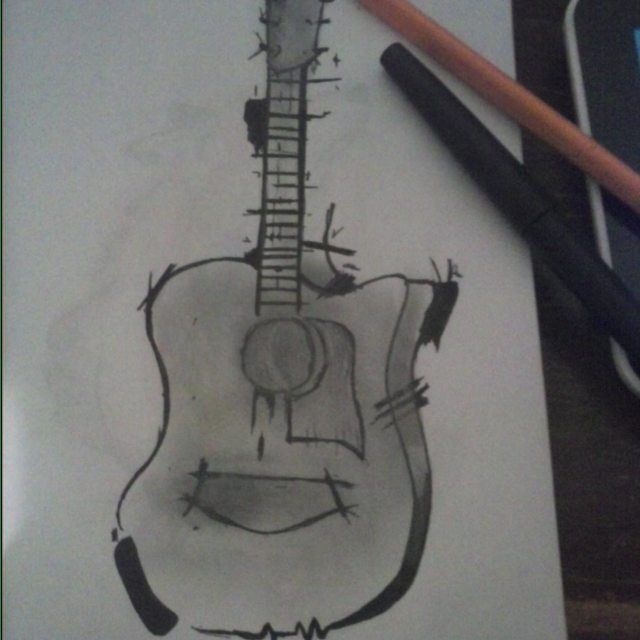 Guitarra #Guitar #violao #guitarra #inspiracion #warrior #art #tattoo #ink #acustica #likeforlike #followme #followforfollow #gray #yeah #si #arte