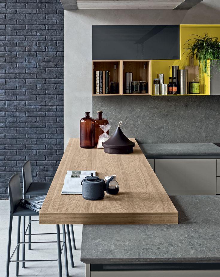#Cucina #Stosa modello #Alevè,  #cucina # stosa #arredamento vivace e contemporanea con il suo tocco urbano e #glamour: vieni a scoprirla presso il nostro showroom, in via Zabatta 128, a #Terzigno.