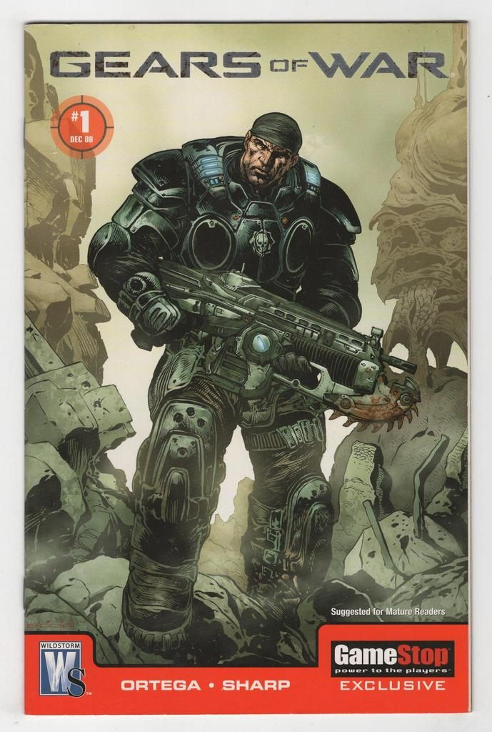 Gears Of War 1 Liam Sharp Gamestop Variant Cover 2008 Gears