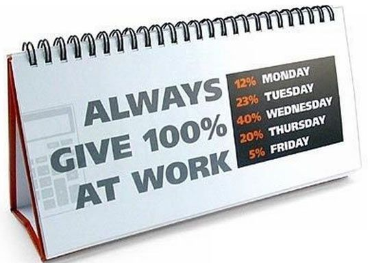 Always give 100%