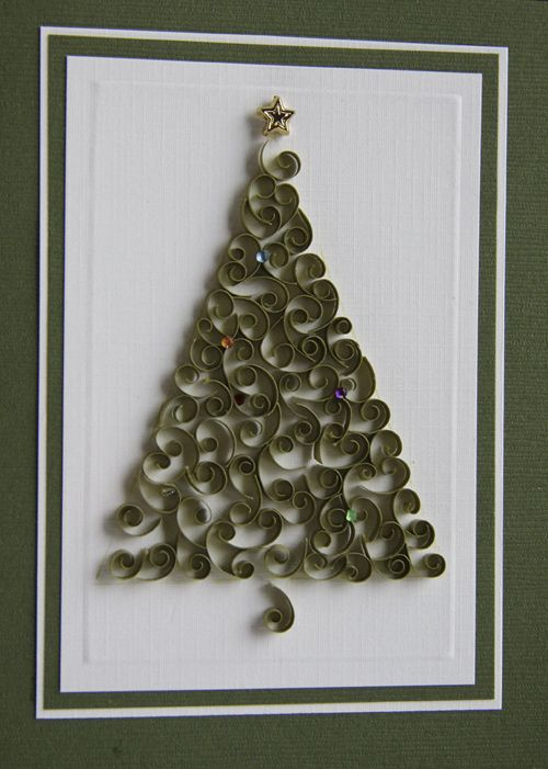 quilled christmas tree: