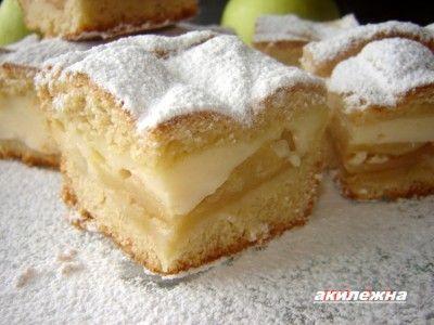 Кулинарные рецепты от Лики: Яблочный пирог с заварным кремом