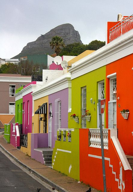 Colorful houses of Bo-Kaap district - Cape Town, South Africa