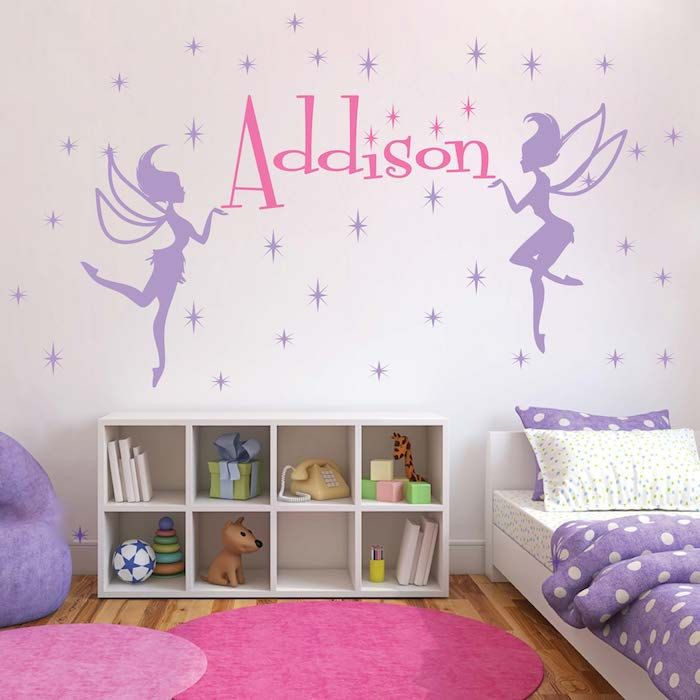 Fairy Wall Decal, Girls Bedroom Fairies, Sparkly Princess Walls, Bedroom  Fairy Decals, Part 84