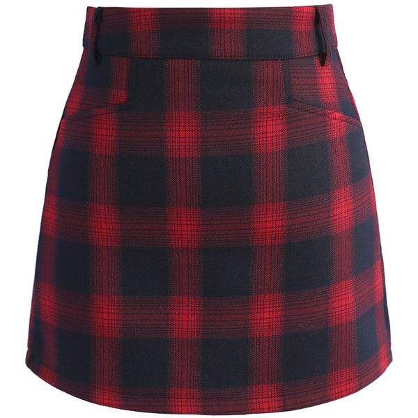 Chicwish Classy Tartan Bud Skirt in Red (21.155 CLP) ❤ liked on Polyvore featuring skirts, mini skirts, bottoms, юбки, red, purple mini skirt, red short skirt, short mini skirts and plaid miniskirts
