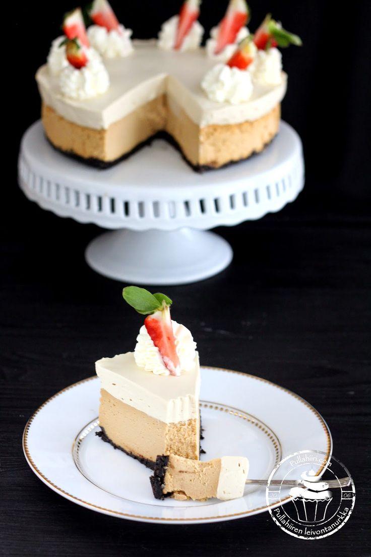 Pullahiiren leivontanurkka: Taivaallinen kinuskijuustokakku - Caramel cheesecake