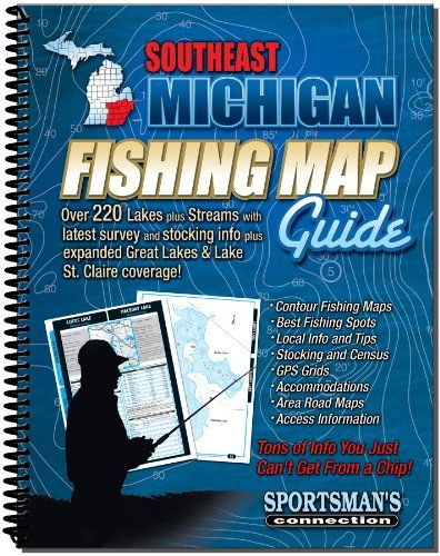 Southeastern Michigan Fishing Map Guide  //Price: $ & FREE Shipping //     #sports #sport #active #fit #football #soccer #basketball #ball #gametime   #fun #game #games #crowd #fans #play #playing #player #field #green #grass #score   #goal #action #kick #throw #pass #win #winning
