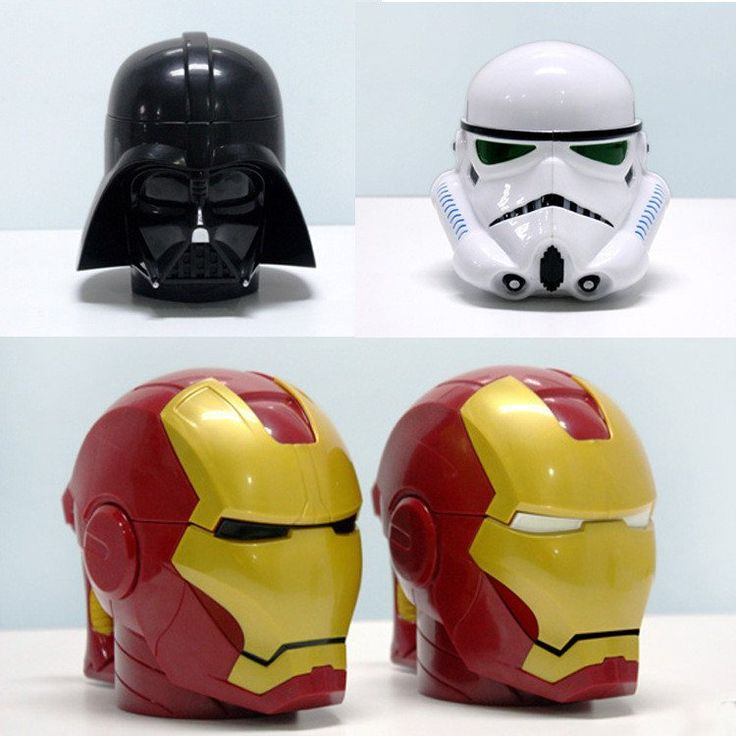 Star Wars Mug 3D Black Knight White Knight Iron Man Three-dimensional Plastic Cup of Coffee Cup.   #starwars,#uniquegifts,#mugs,#ironman,#darthvader,#stormtrooper